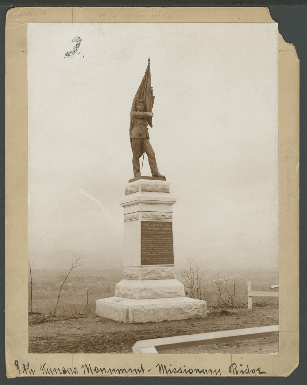 8th Kansas Volunteer Infantry monument at Missionary Ridge - *4