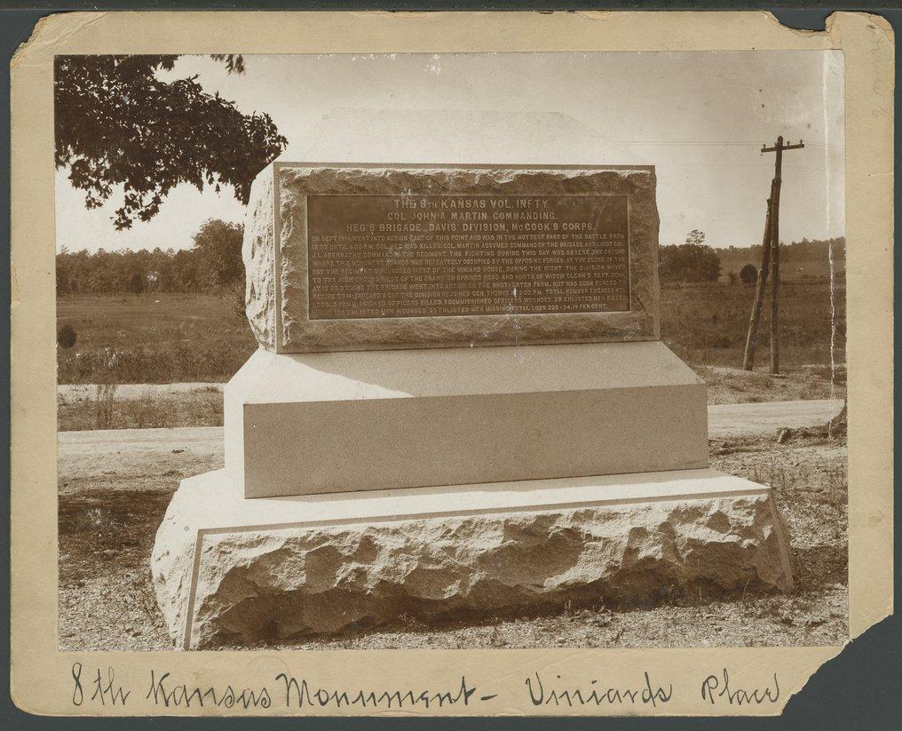 8th Kansas Volunteer Infantry monument at Missionary Ridge - *6