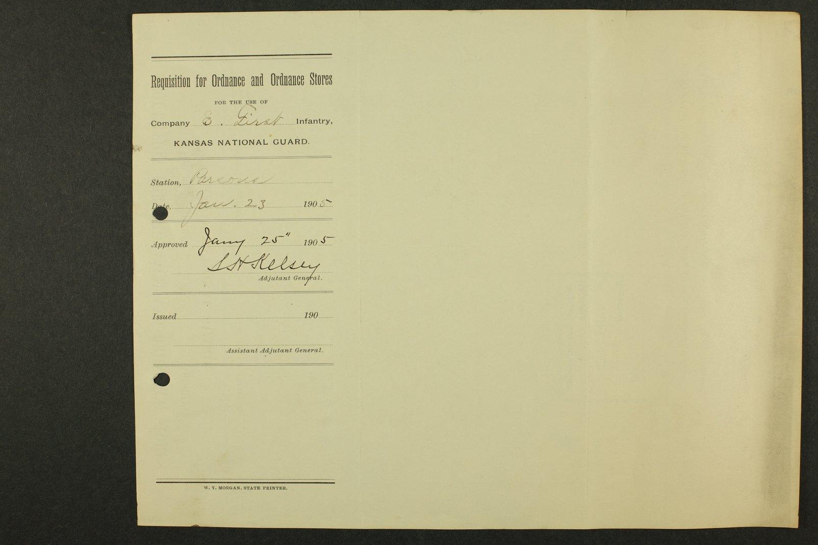 Kansas Adjutant General miscellaneous correspondence - 8