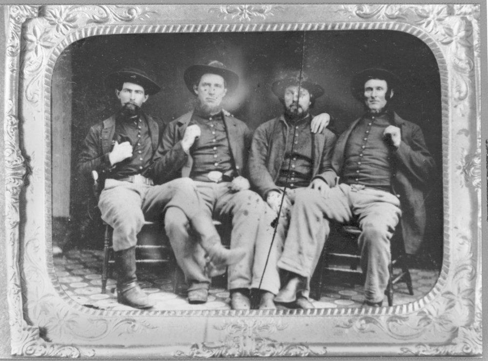 Members of the 9th Kansas Cavalry, Company G
