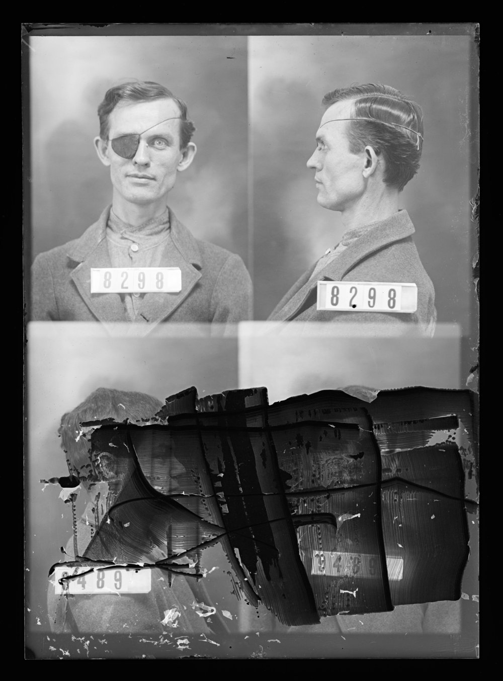 E. E. Fuller, prisoner 8298 and unknown prisoner 9489, Kansas State Penitentiary
