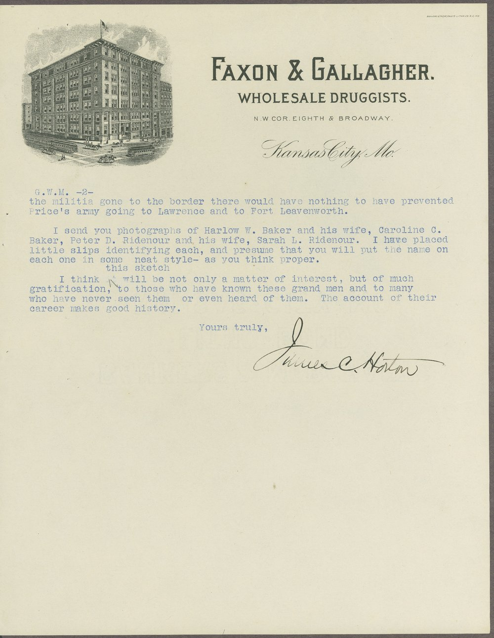 James C. Horton correspondence - 7