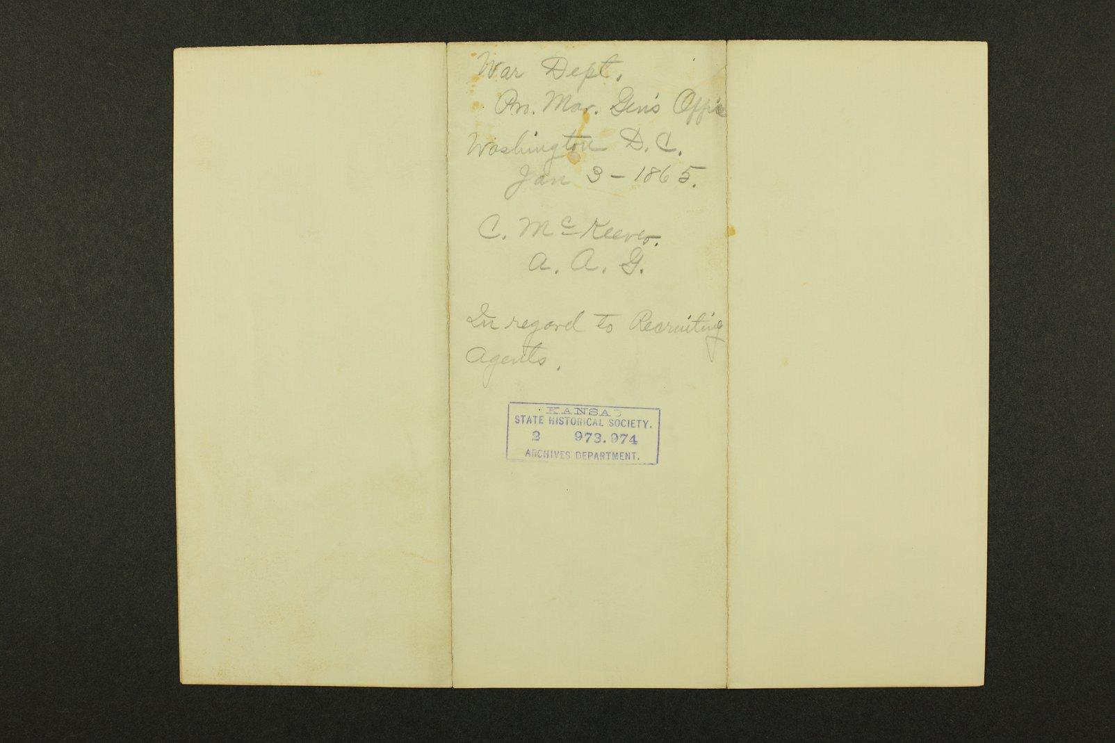 Kansas Adjutant General general correspondence - 3