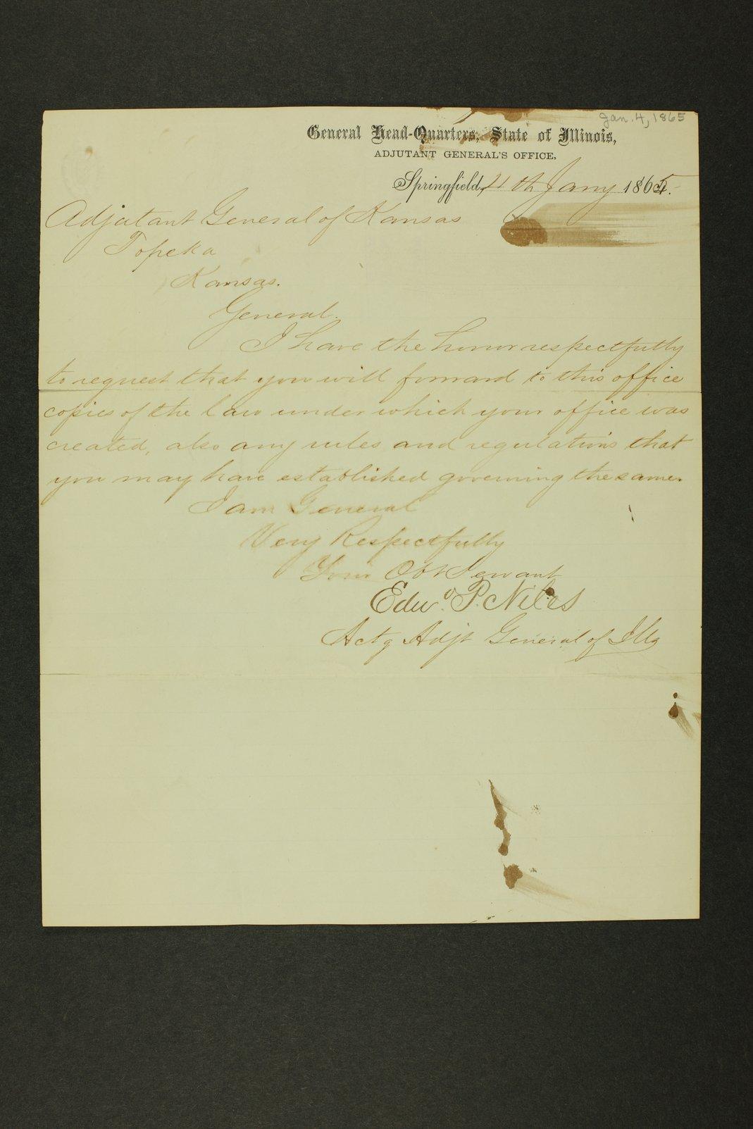 Kansas Adjutant General general correspondence - 4