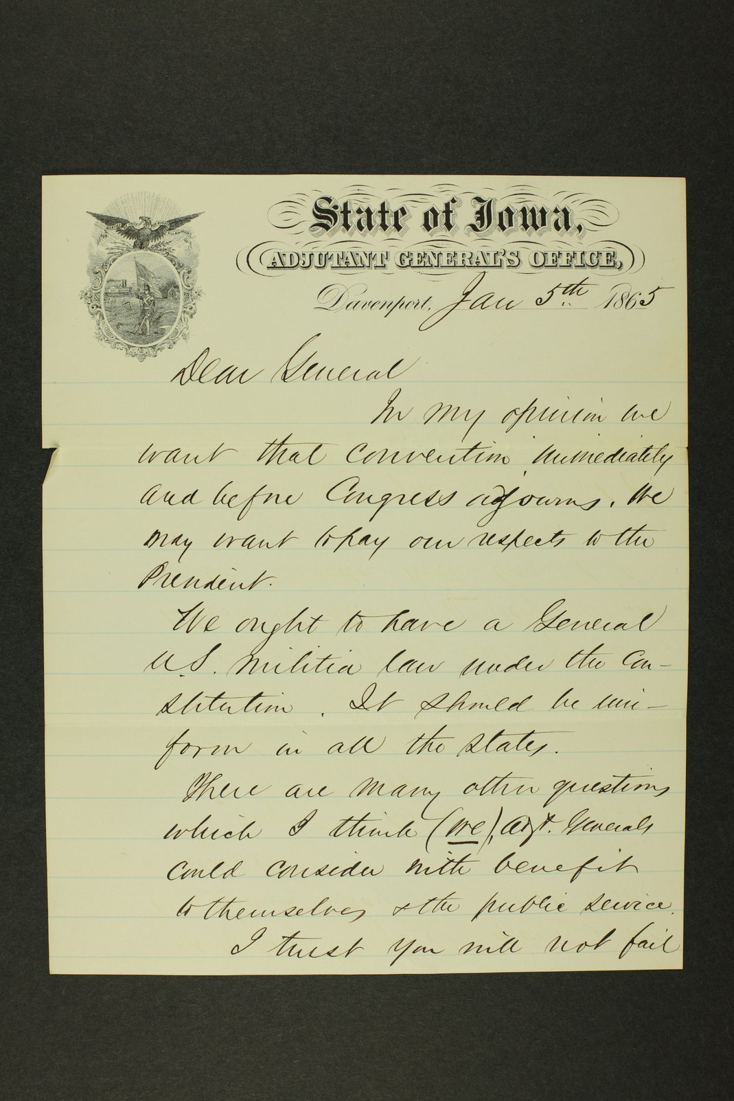 Kansas Adjutant General general correspondence - 6
