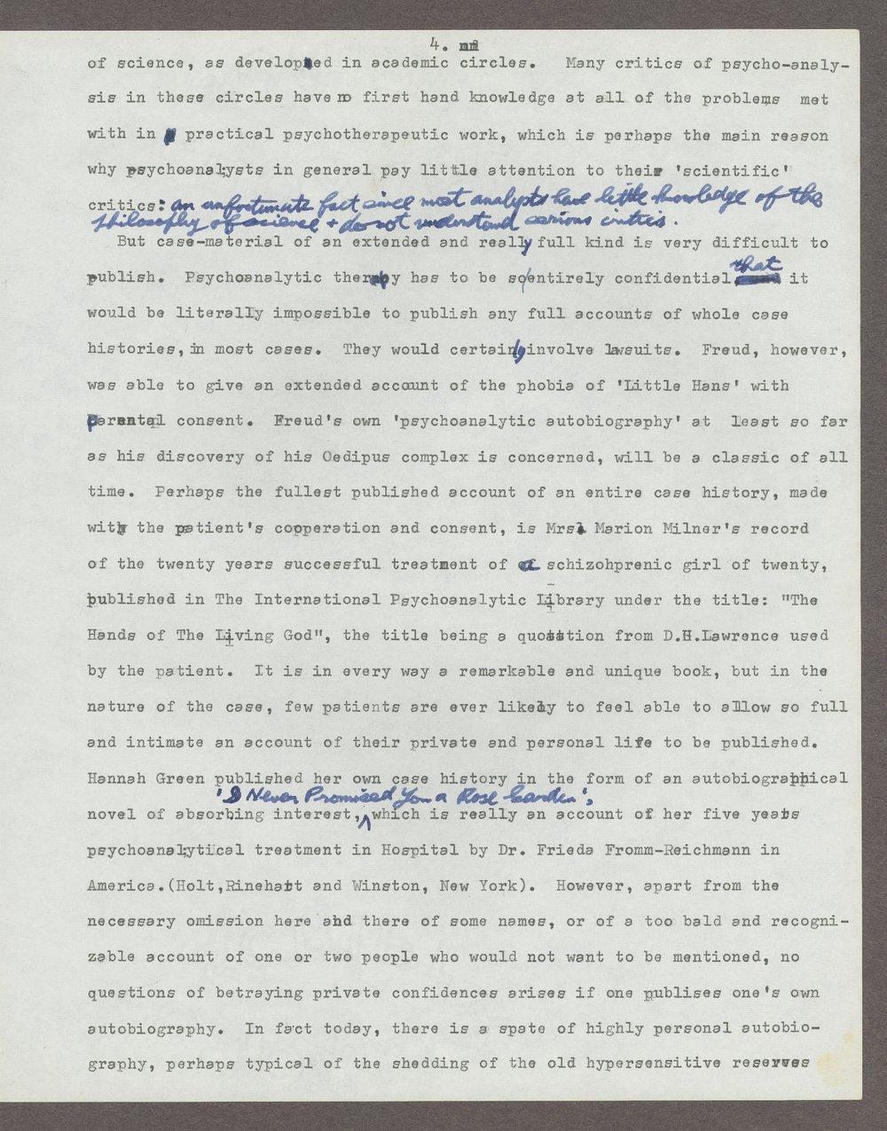 Harry Guntrip manuscripts - 7