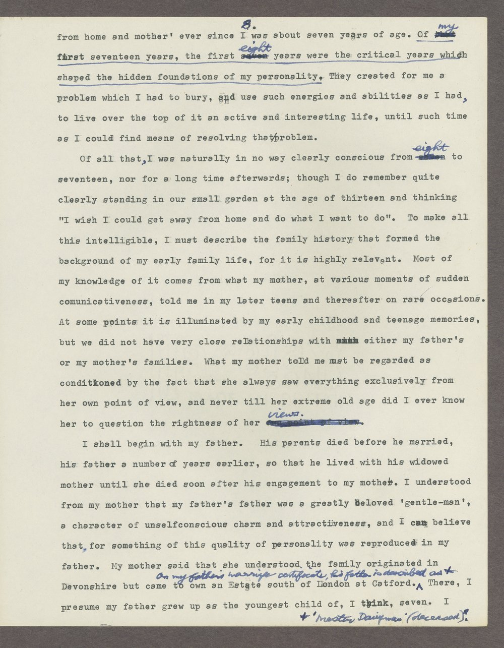 Harry Guntrip manuscripts - 2