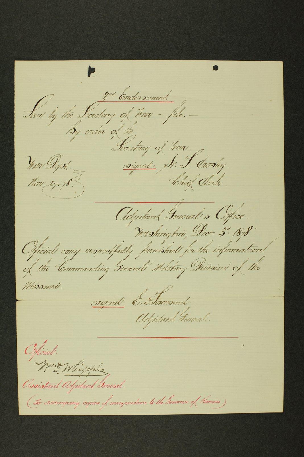 Kansas Adjutant General general correspondence - 864