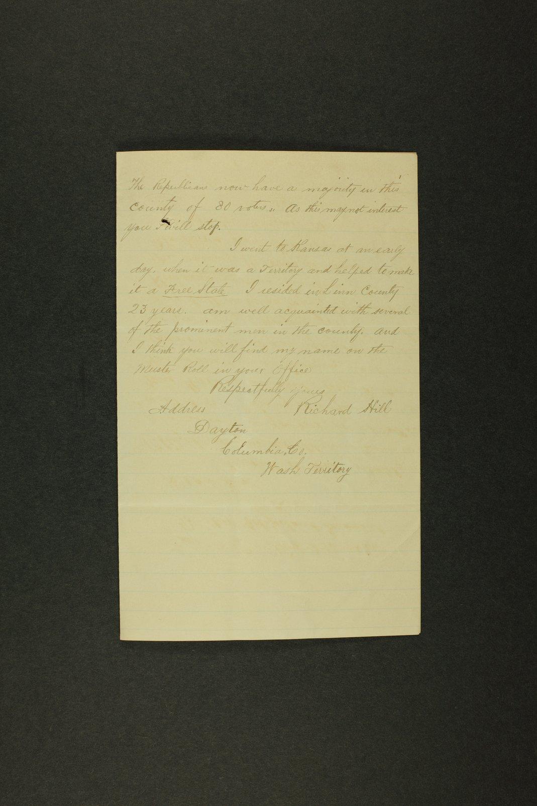 Kansas Adjutant General miscellaneous correpondence - 6