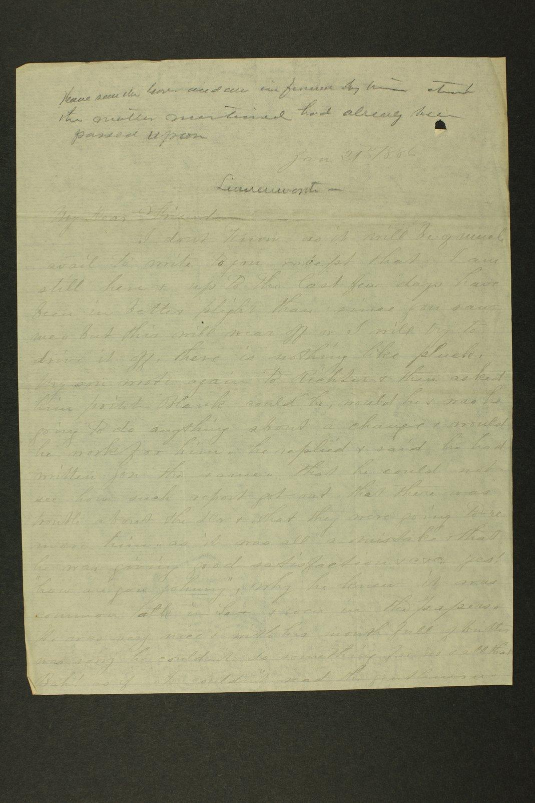 Kansas Adjutant General miscellaneous correpondence - 8
