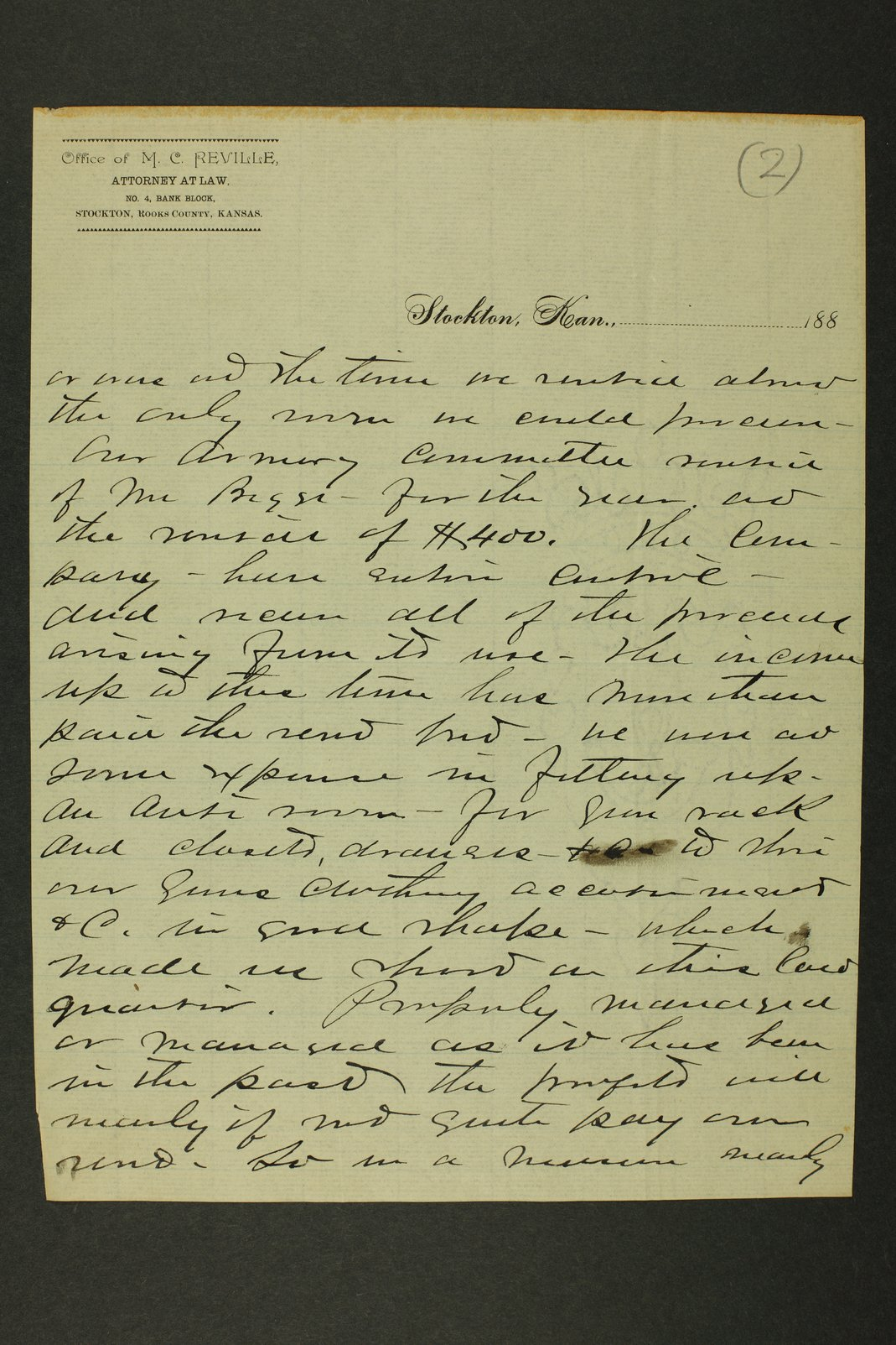 Kansas Adjutant General miscellaneous correspondence - 4