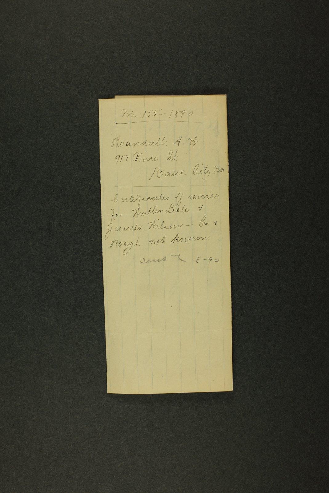 Kansas Adjutant General miscellaneous correspondence - 3