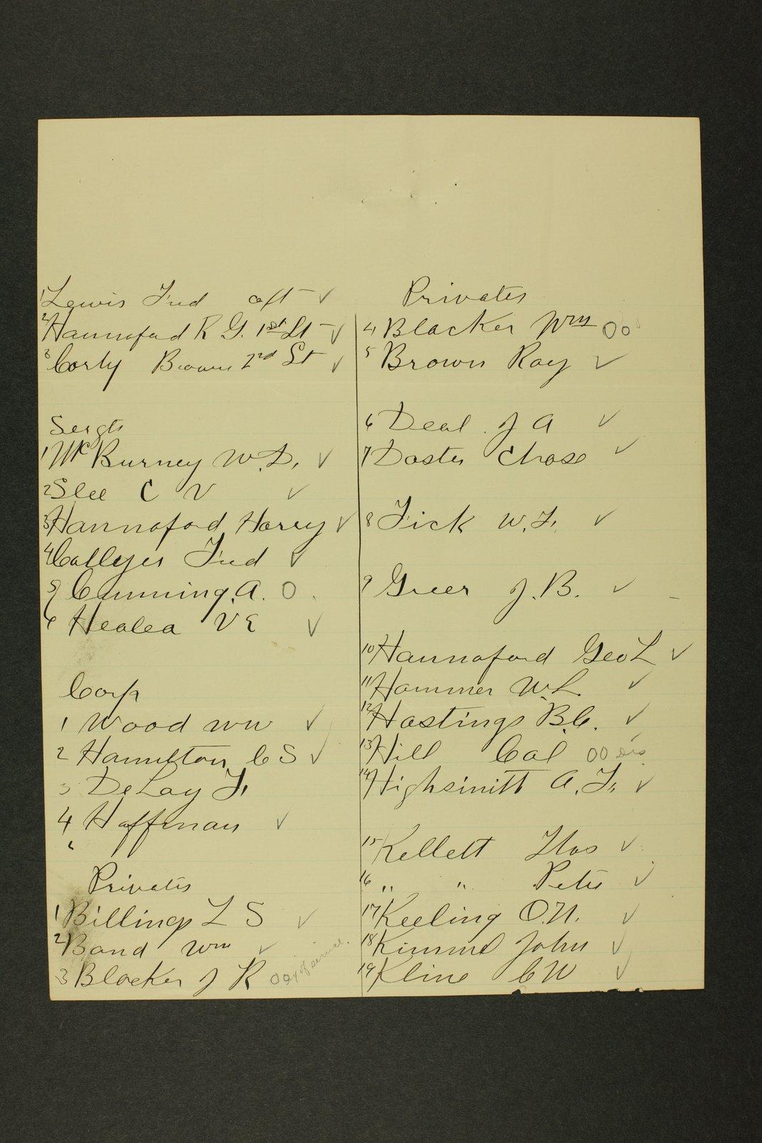 Kansas Adjutant General miscellaneous correspondence - 5