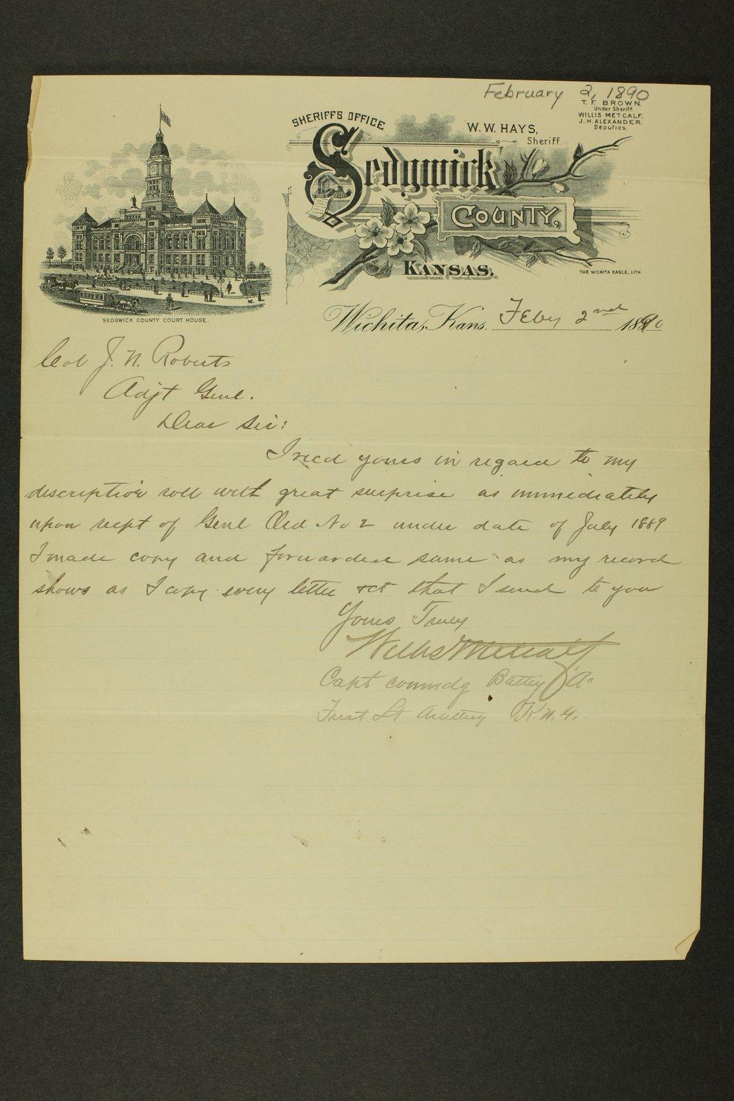 Kansas Adjutant General miscellaneous correspondence - 9