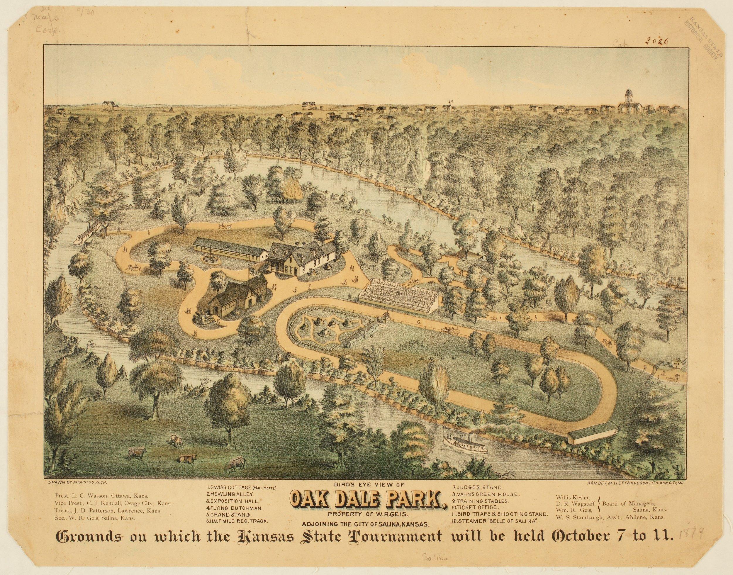 Bird's eye view of Oak Dale Park, Salina, Kansas