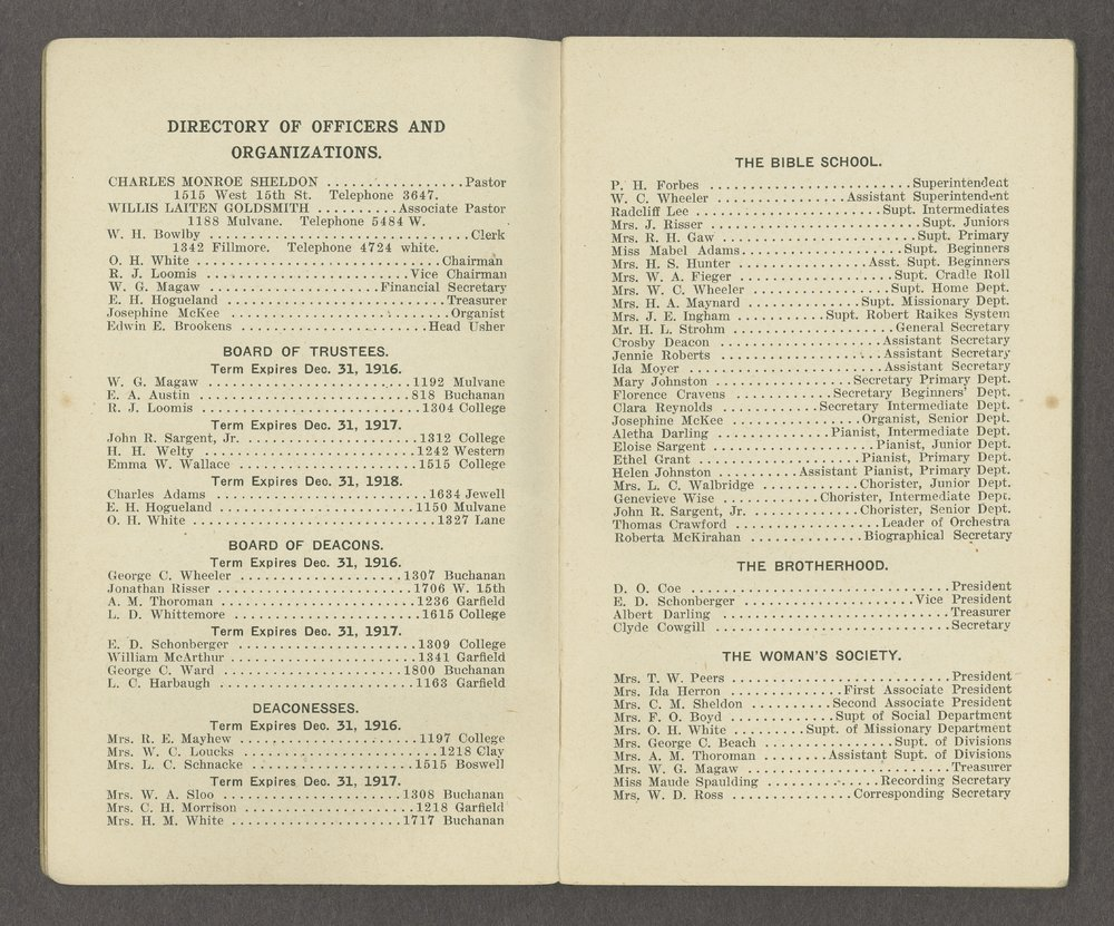 Central Congregational Church yearbooks - 3