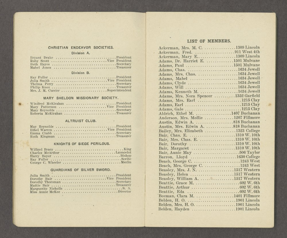 Central Congregational Church yearbooks - 4
