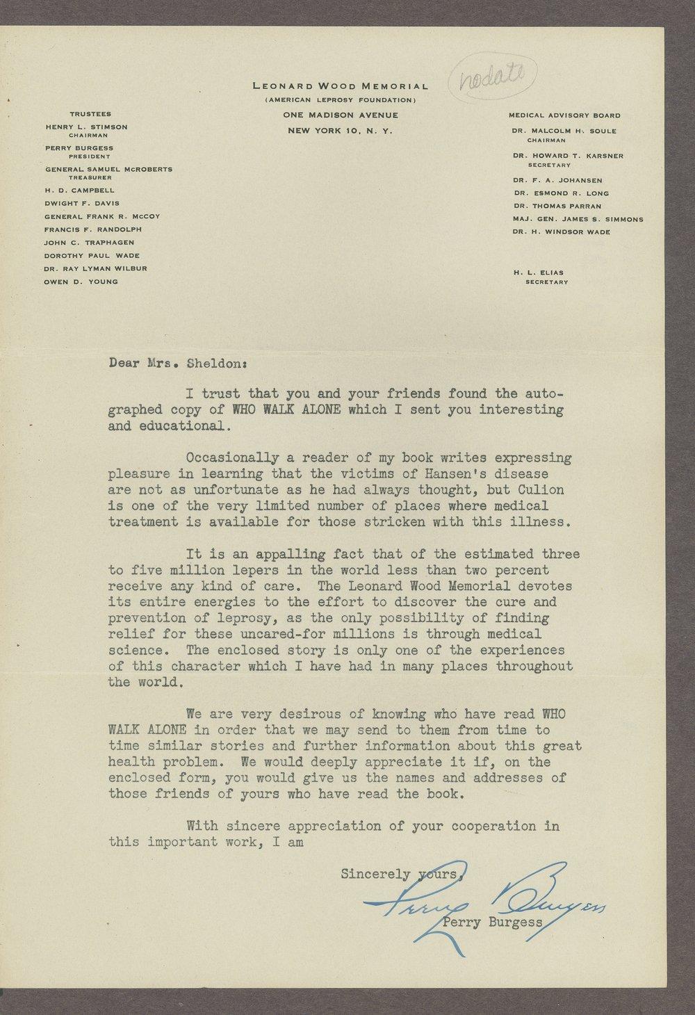 Mary M. Sheldon correspondence - 11