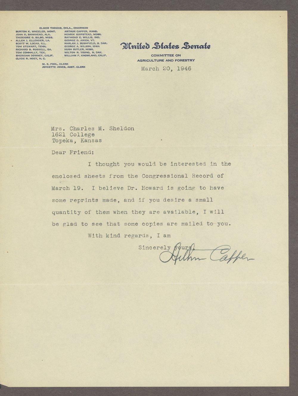 Mary M. Sheldon correspondence - 12