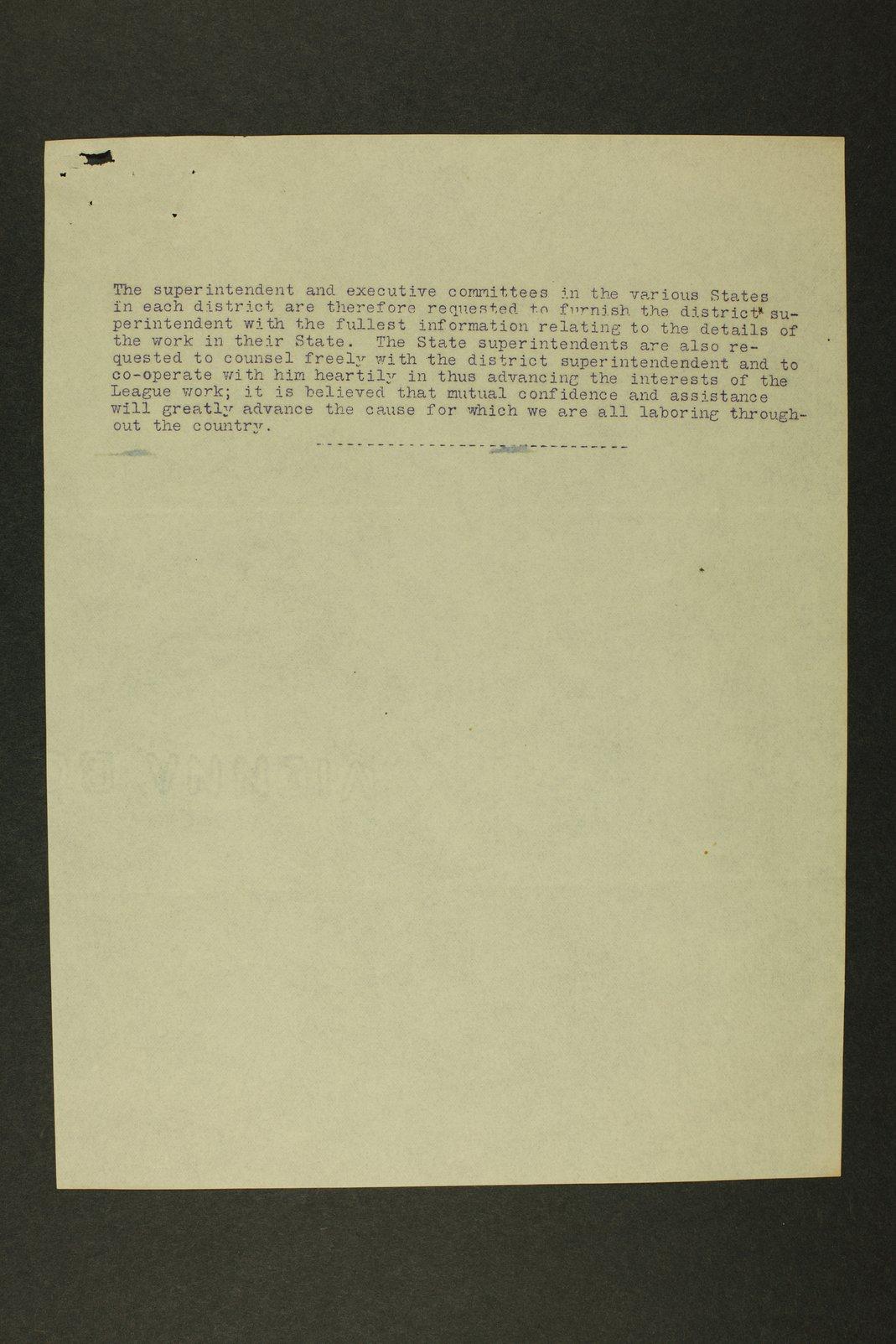 Temperance history correspondence - 5