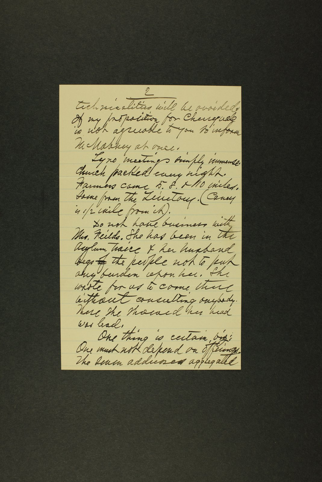 Temperance history correspondence - 9