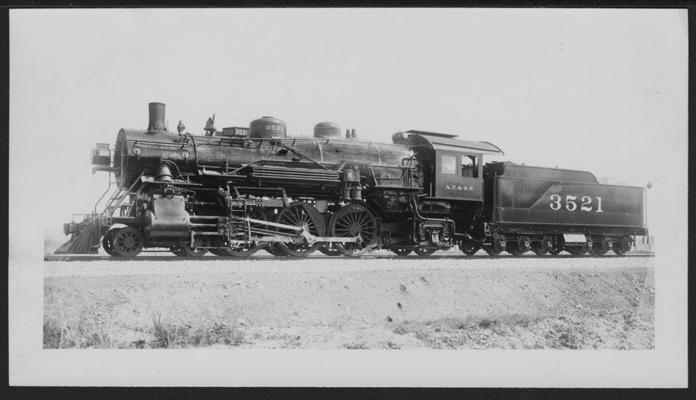 Atchison, Topeka & Santa Fe Railway Company's steam locomotive #3521