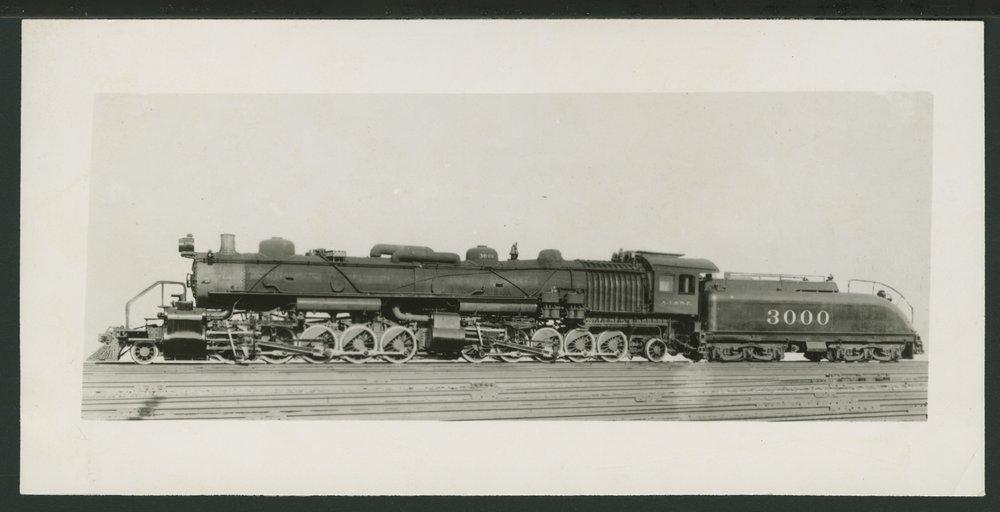 Atchison, Topeka & Santa Fe Railway Company's steam locomotive #3000 - 1