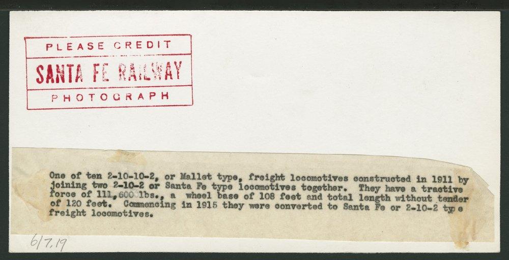 Atchison, Topeka & Santa Fe Railway Company's steam locomotive #3000 - 2