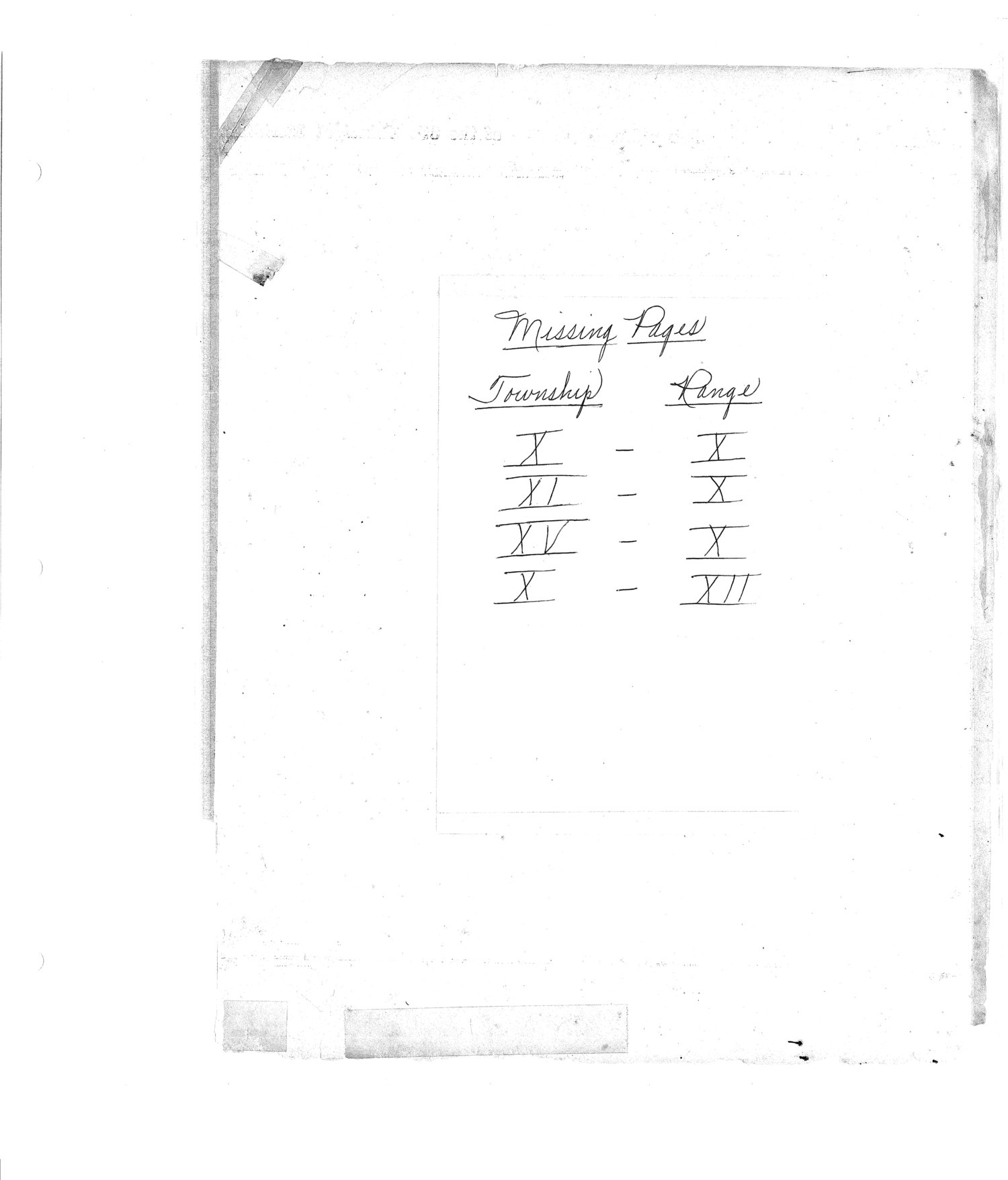 Richardson County and Wabaunsee County, Kansas, survey - Missing pages