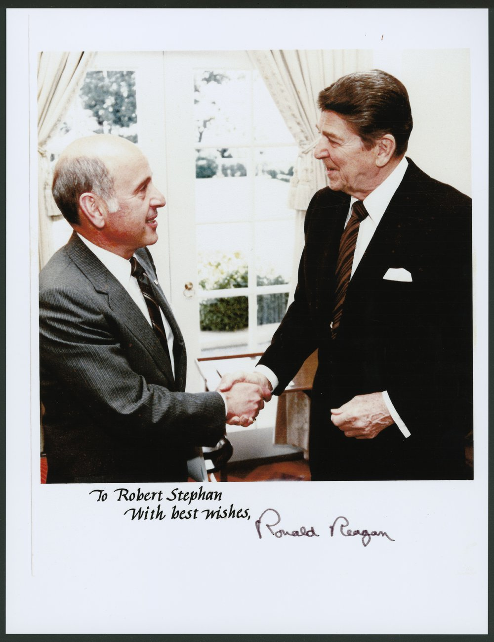 Robert T. Stephan with President Ronald Reagan