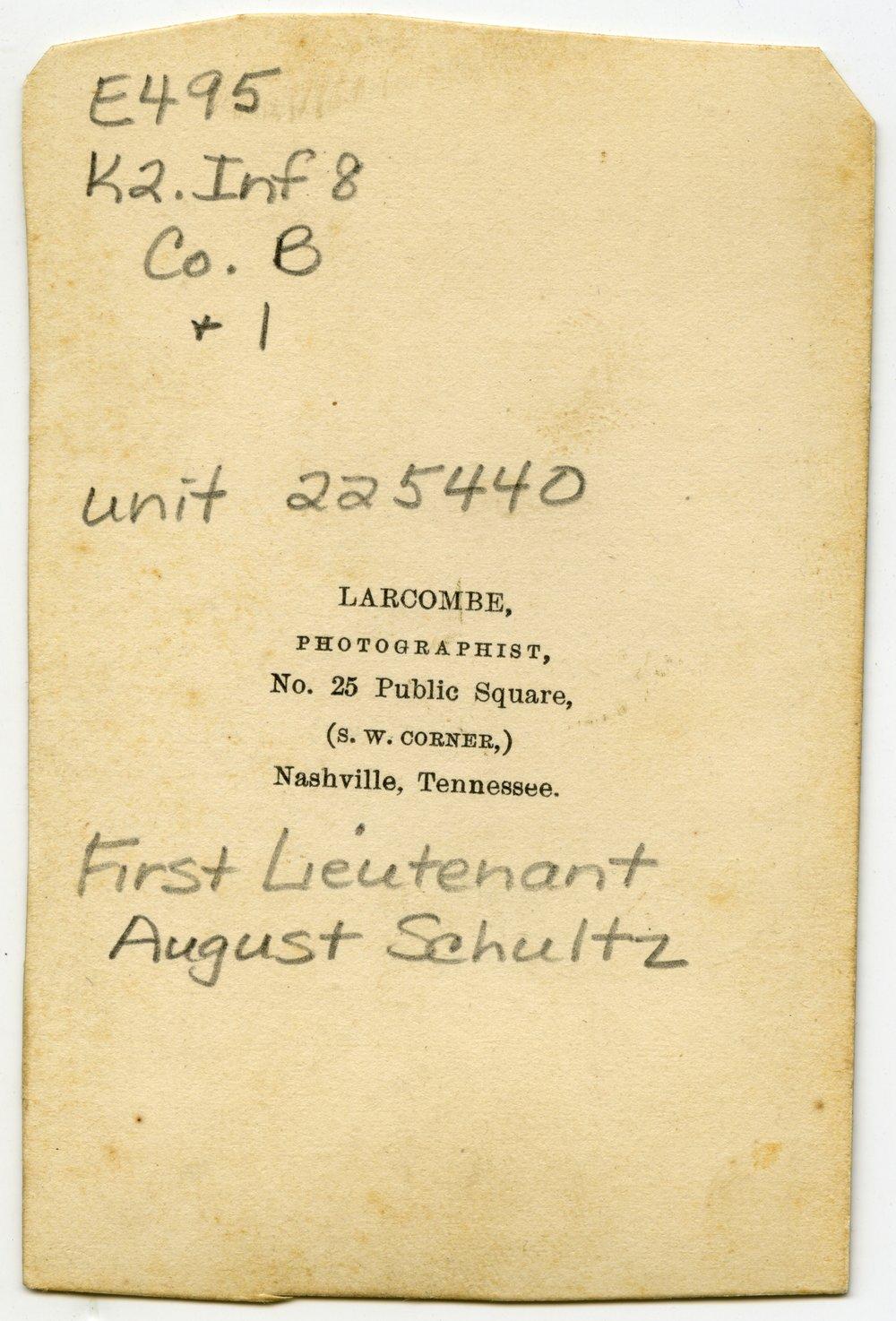 August Schultz - 2