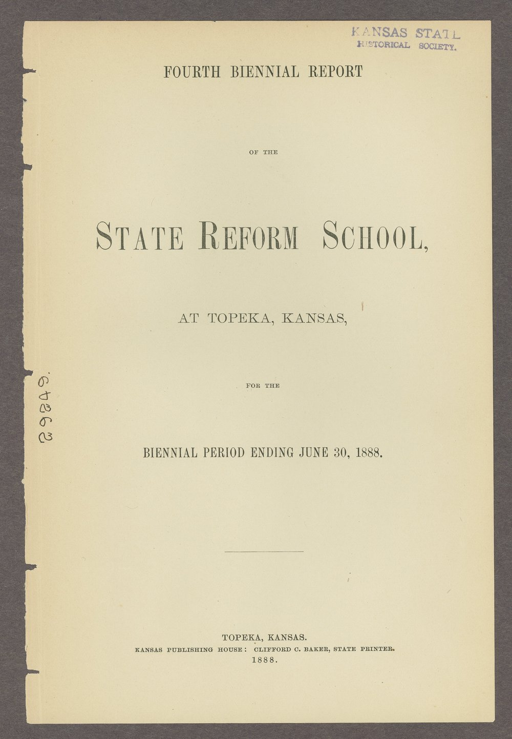 Biennial report of the State Reform School, 1888 - 1