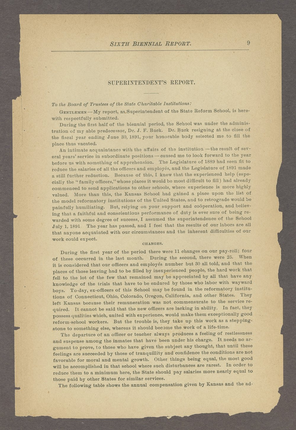 Biennial report of the State Reform School, 1892 - 9