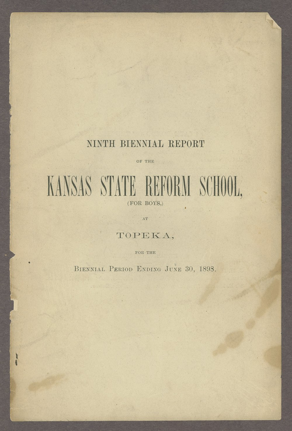 Biennial report of the State Reform School,1898 - 1