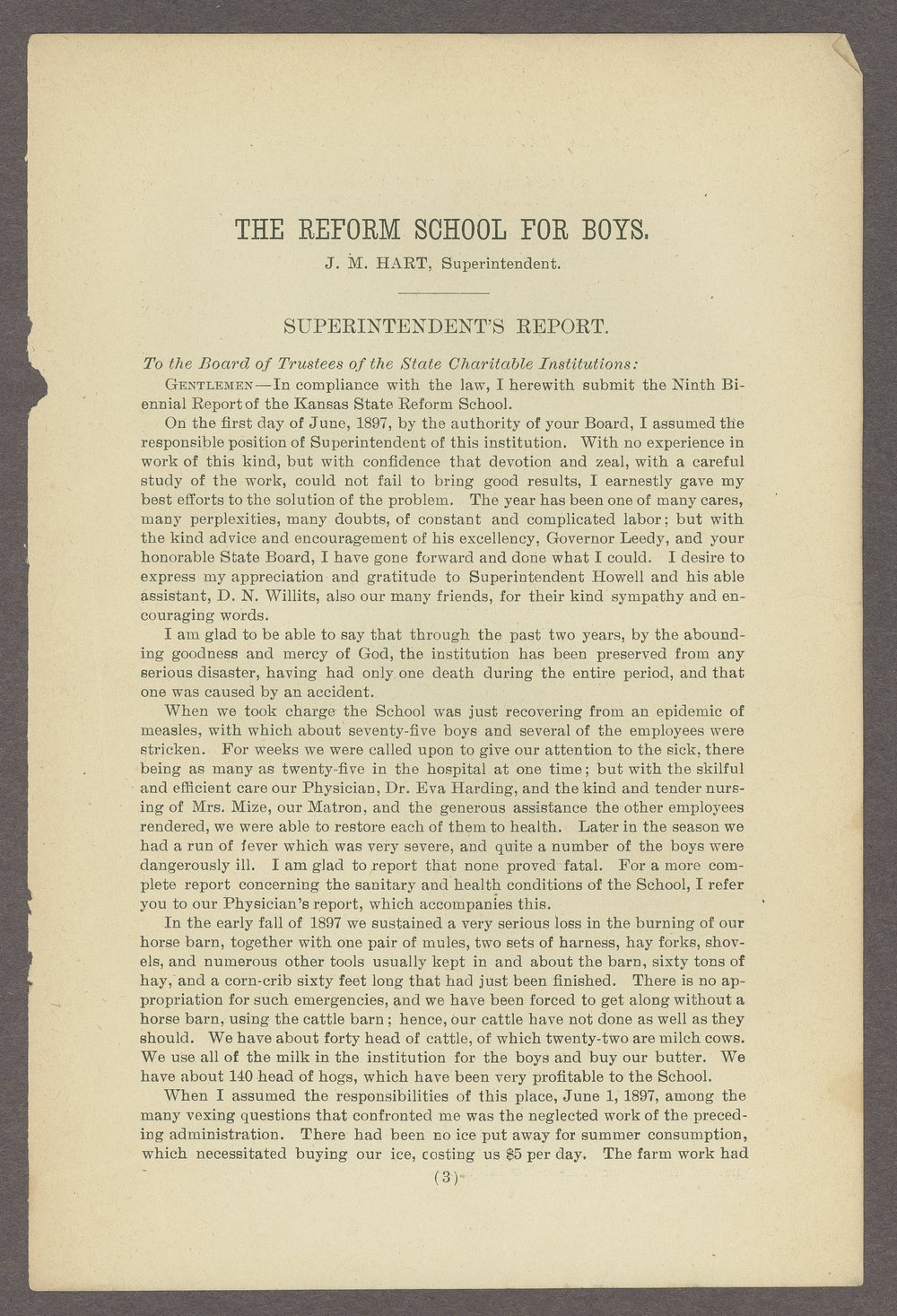 Biennial report of the State Reform School,1898 - 3