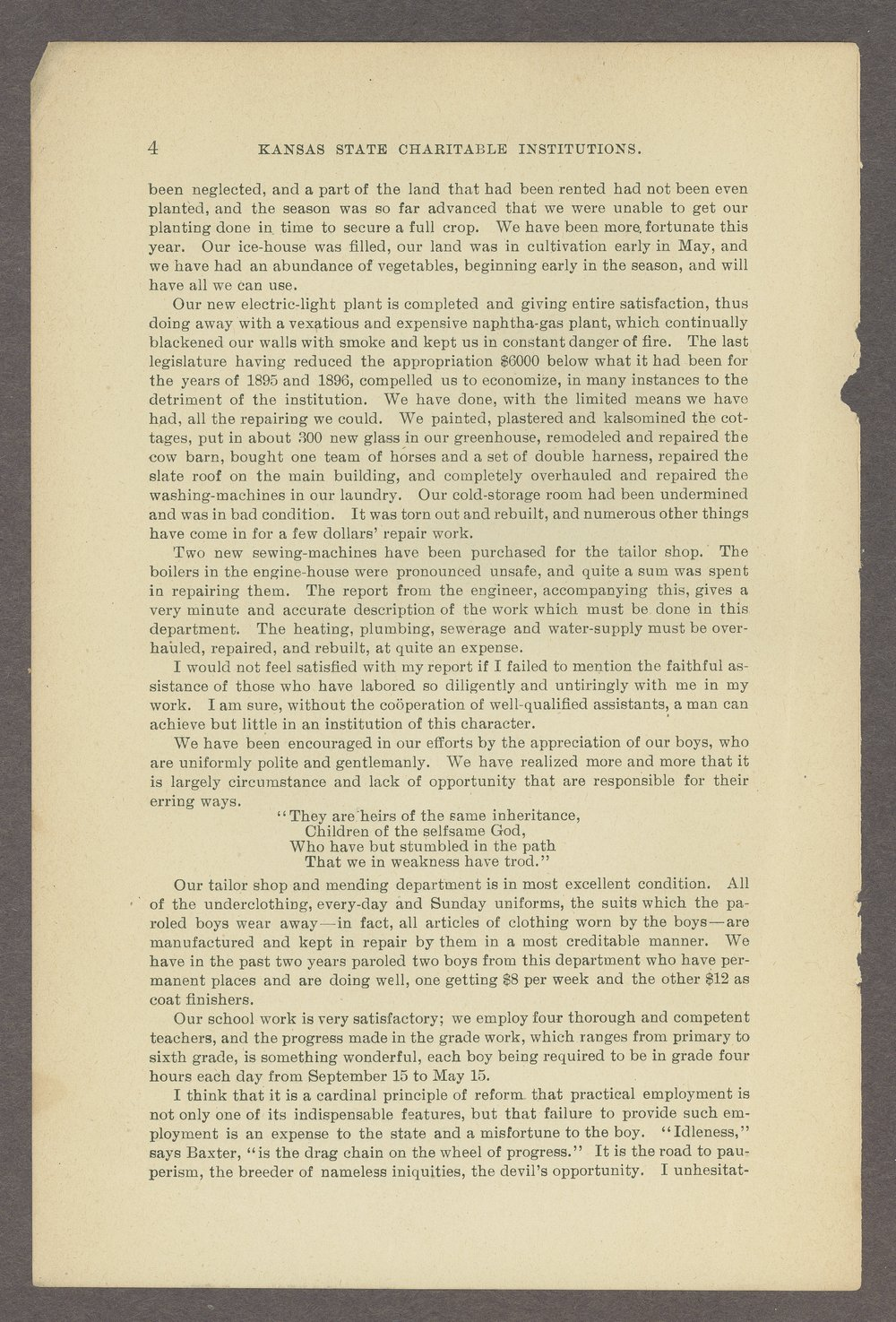 Biennial report of the State Reform School,1898 - 4