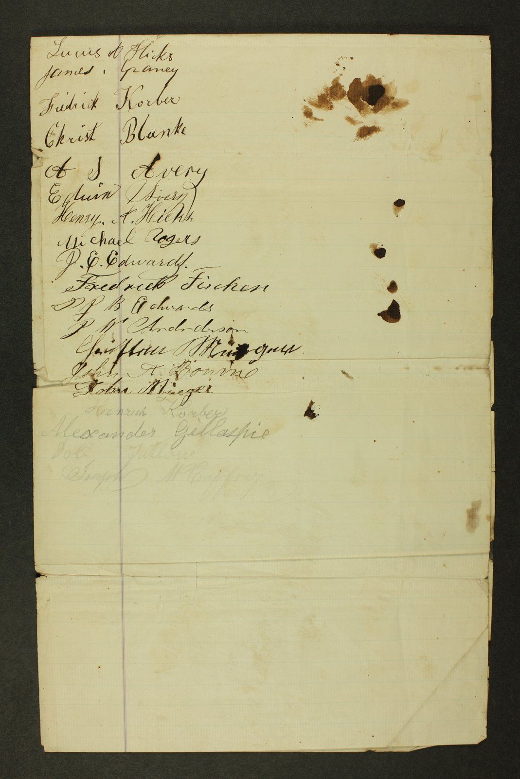 Kansas State Militia miscellaneous papers by county - 10