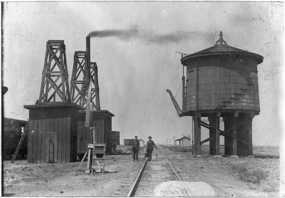 Missouri Pacific Railroad Company's water tank, Tribune, Kansas