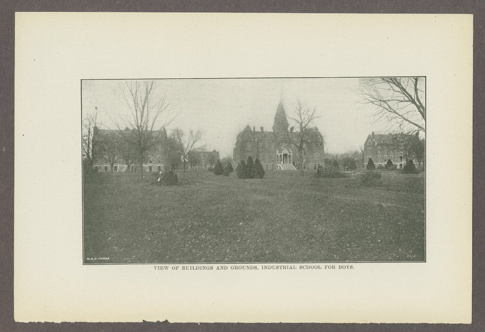 Biennial report of the Boys Industrial School, 1908 - 2