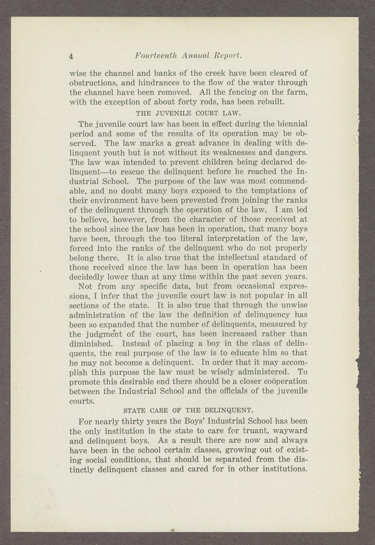 Biennial report of the Boys Industrial School, 1908 - 4