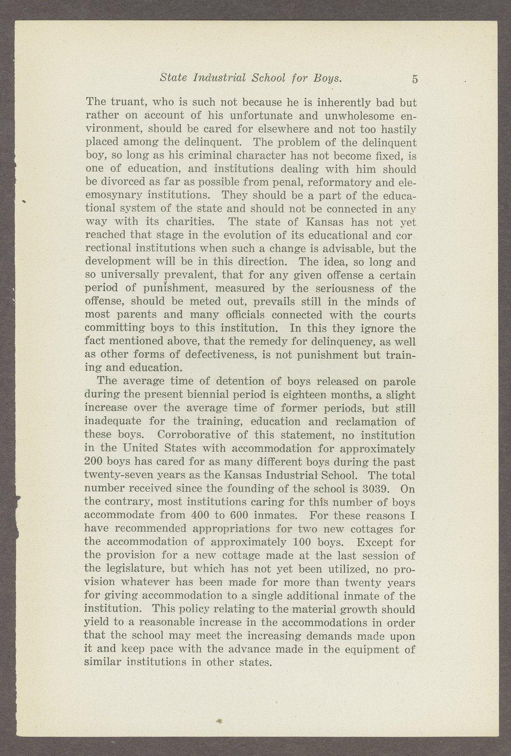 Biennial report of the Boys Industrial School, 1908 - 5