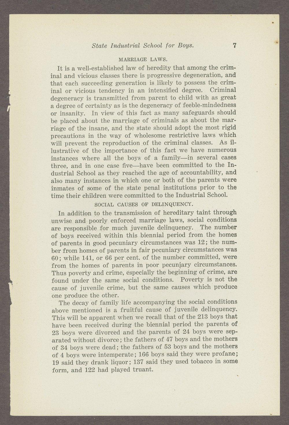 Biennial report of the Boys Industrial School, 1908 - 7
