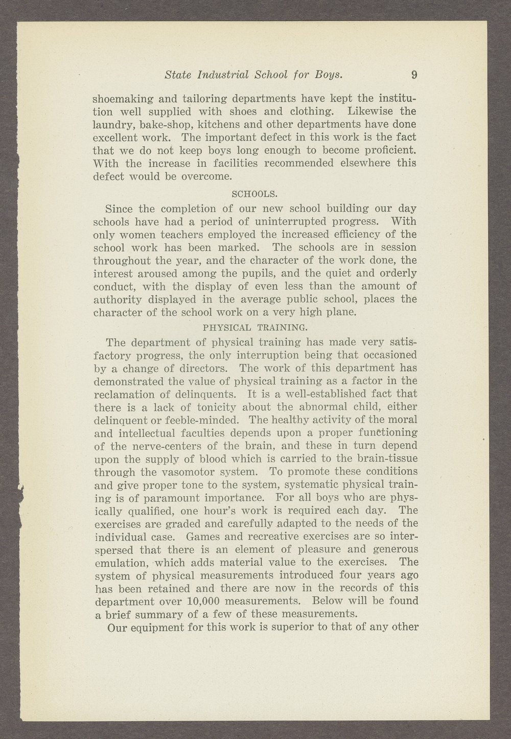Biennial report of the Boys Industrial School, 1908 - 9