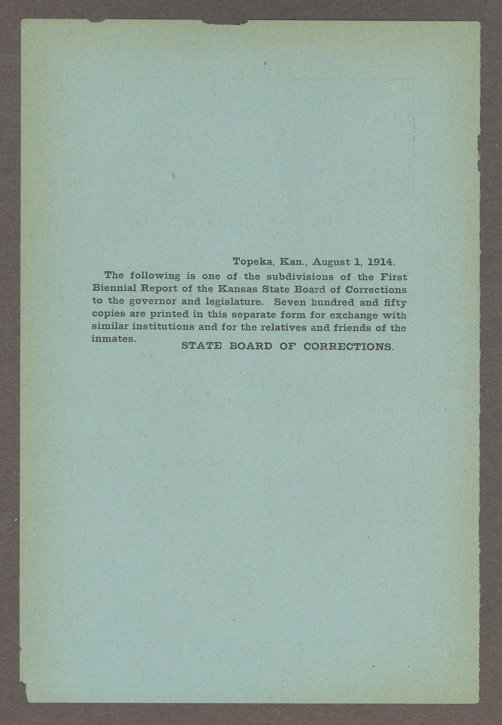 Biennial report of the Boys Industrial School, 1914 - Inside Front Cover