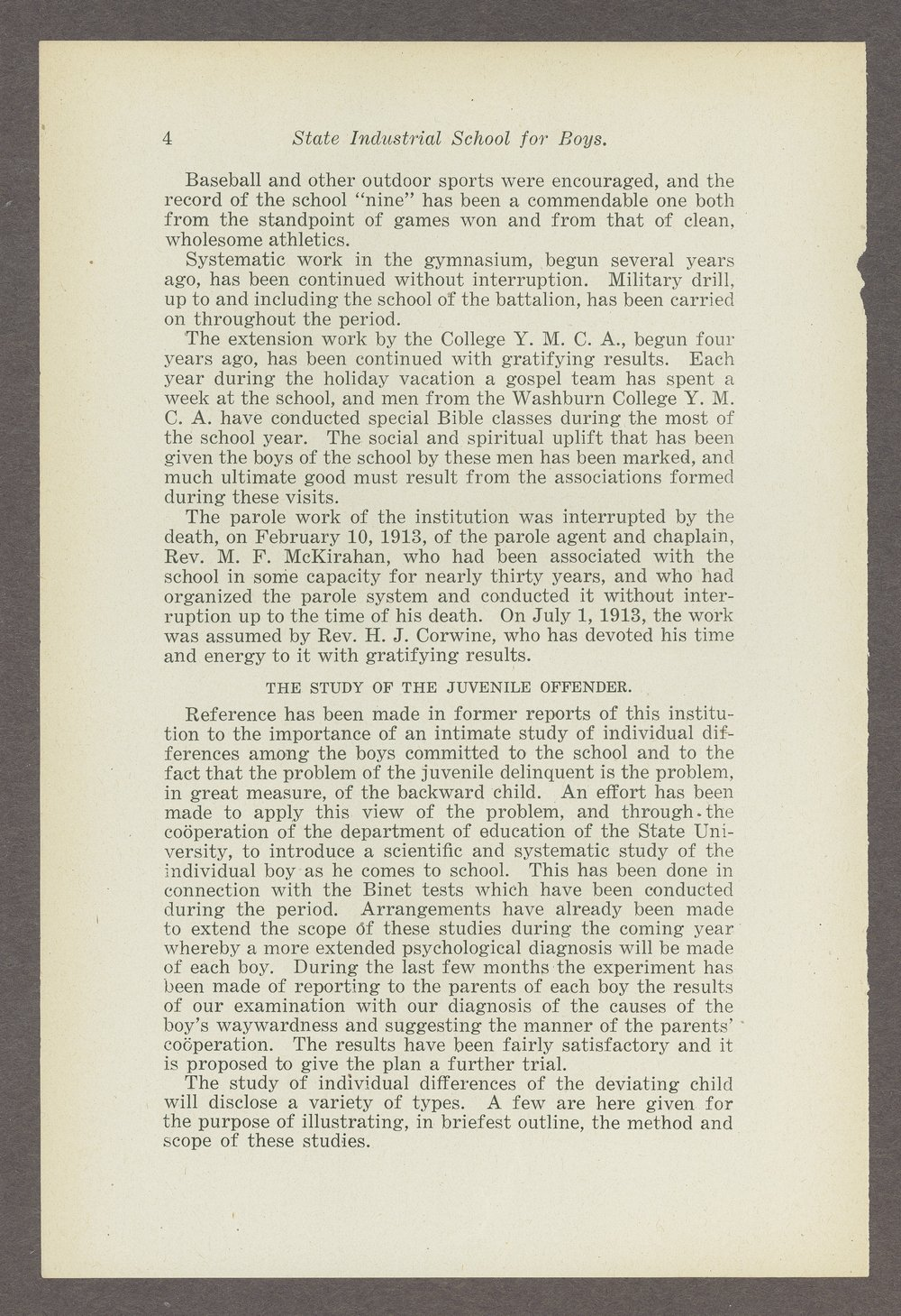 Biennial report of the Boys Industrial School, 1914 - 4