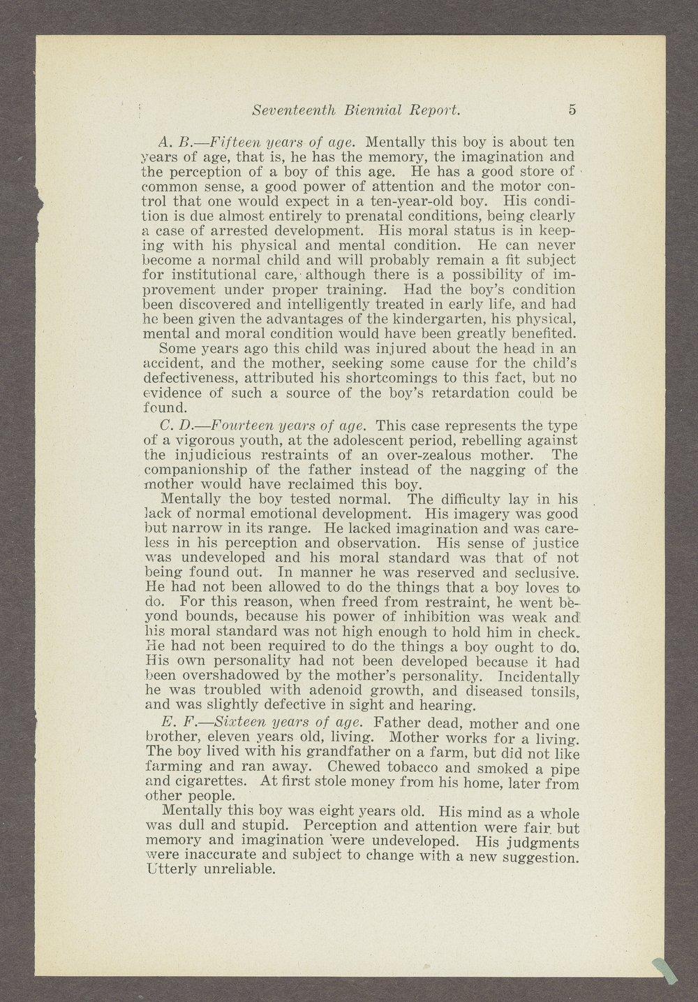 Biennial report of the Boys Industrial School, 1914 - 5