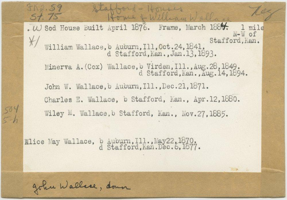 William Wallace homestead, Stafford, Kansas - 2