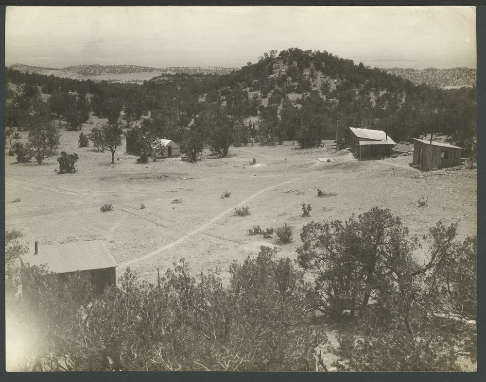 Camp possibly in the hills of Colorado
