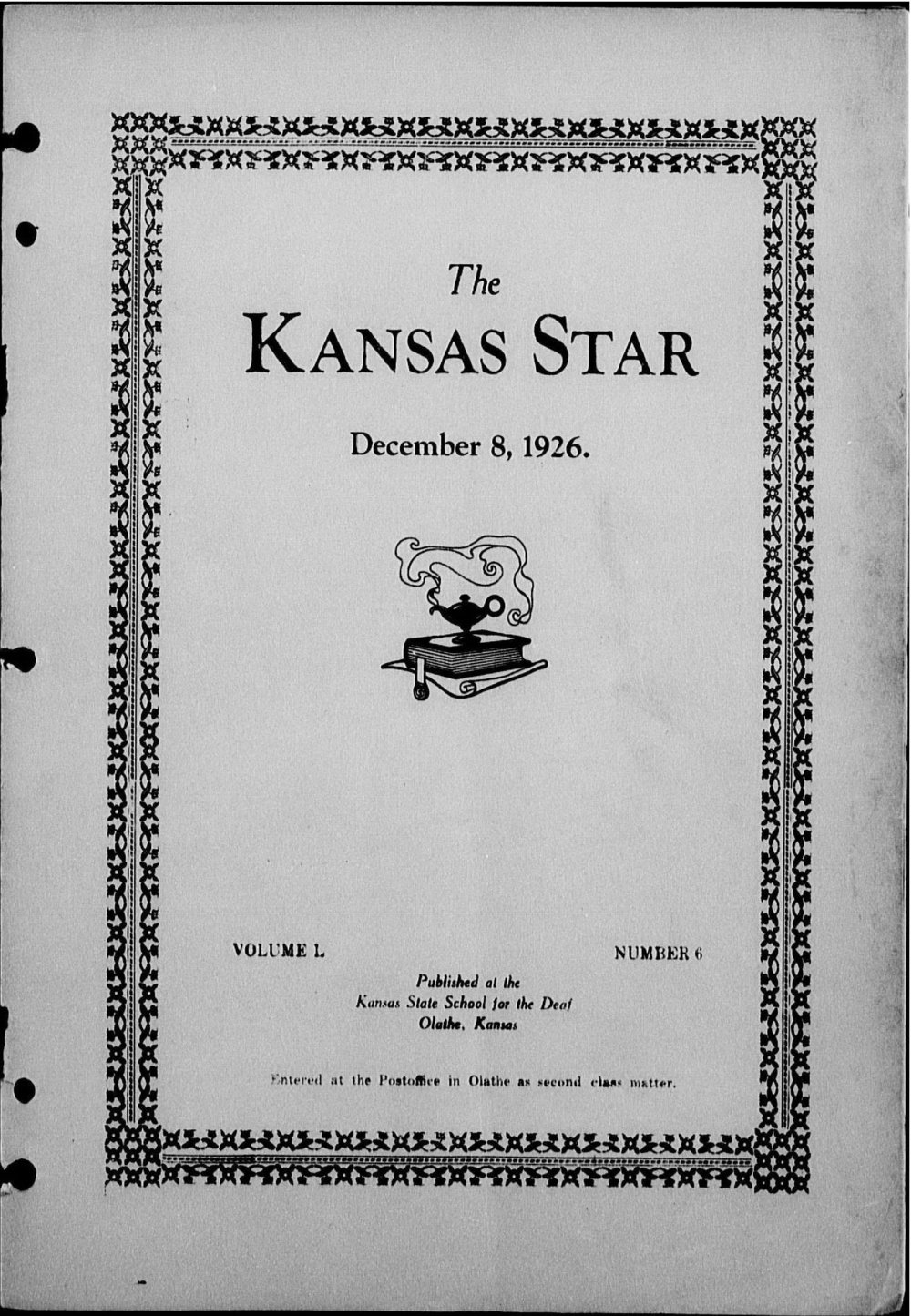 The Kansas Star, volume 50, number 6 - Front cover
