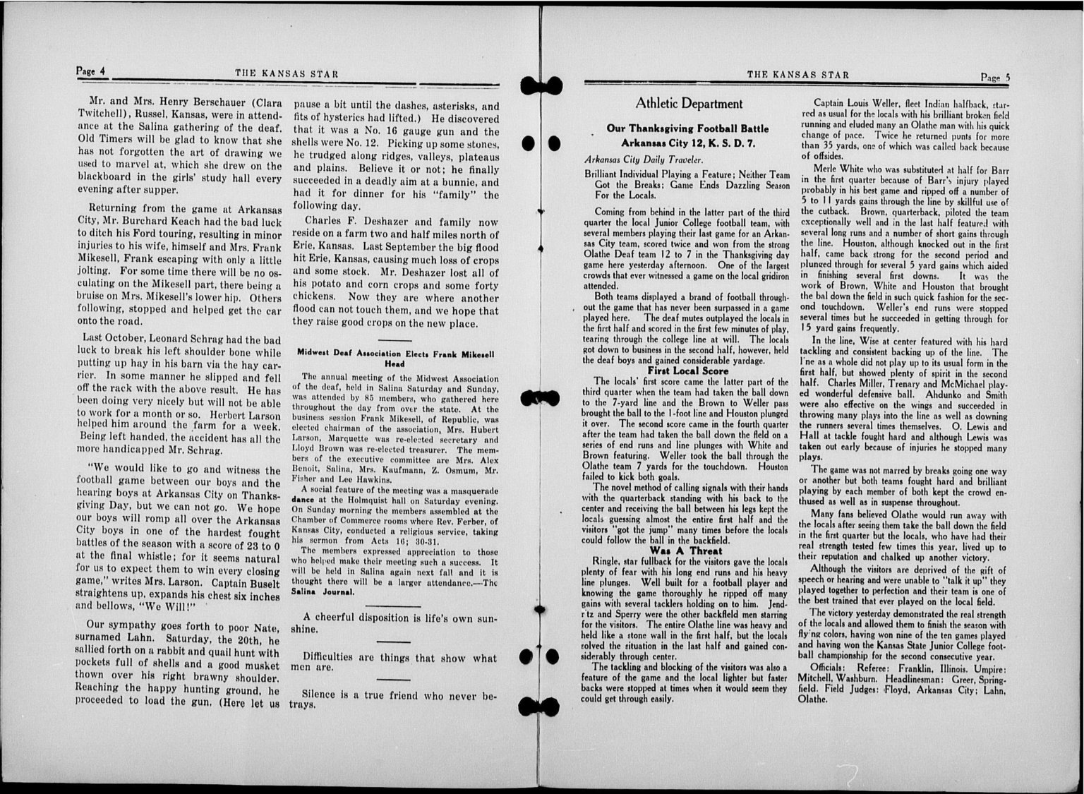 The Kansas Star, volume 50, number 6 - 4-5